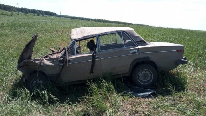 «Жигули» слетели в кювет на новосибирской дороге: в машине семь человек пострадали, один погиб