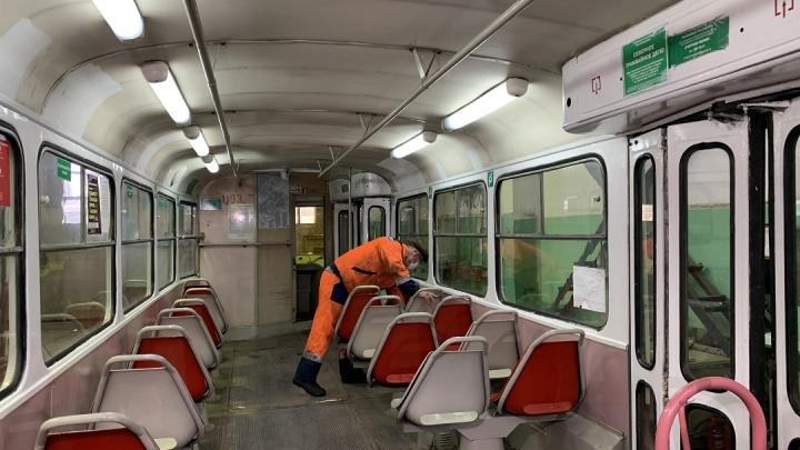 Самарские трамваи подготовили к зиме