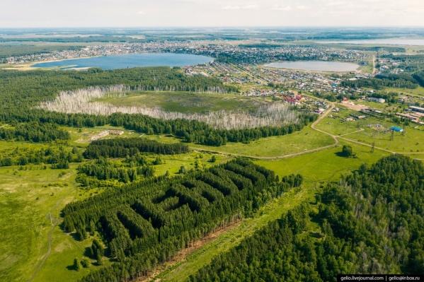 Геоглиф на фоне Тюкалинска