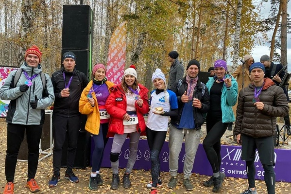 Участники пробежали 10 километров по внедорожью