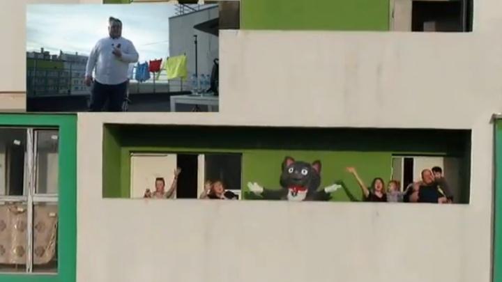 Эфир UFA1.RU: смотрим и слушаем, как в Уфе проходит балконное караоке