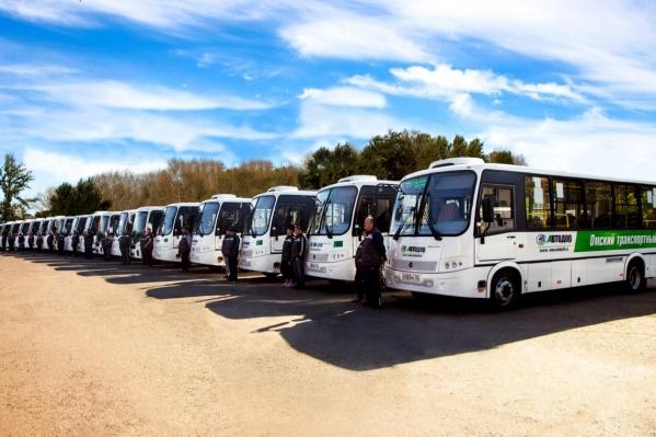 Всего за год в Омскую область приобрели около 60 таких автобусов