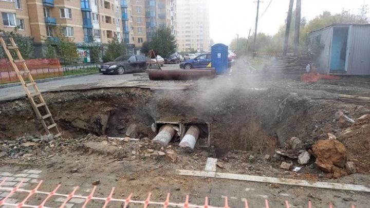 В районе Автовокзала несколько домов остались без тепла и воды из-за аварии на бесхозной сети