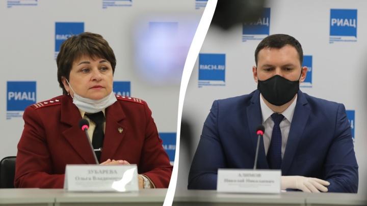 В Волгограде руководители Роспотребнадзора и облздрава сделали заявления по ситуации с коронавирусом