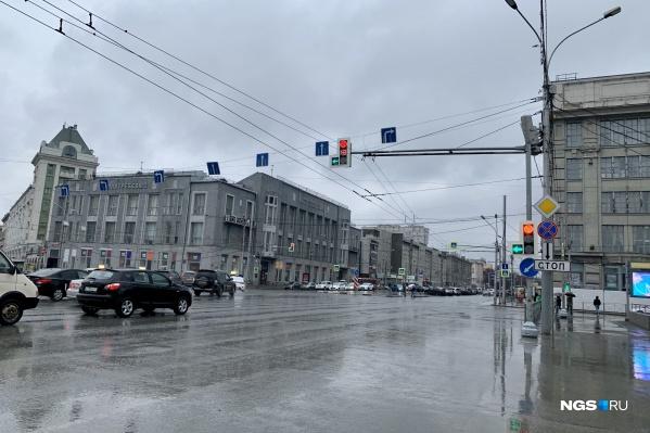 Пересечение Красного проспекта с улицей Орджоникидзе