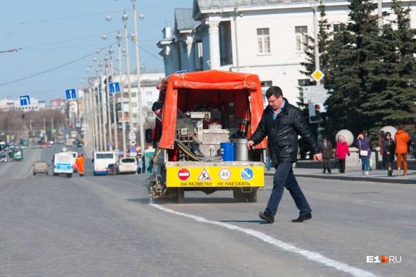 В 2020 году на 357 улицах Екатеринбурга будет нанесена новая разметка