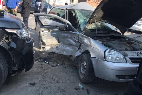 В ДТП пострадали пассажиры «Приоры»