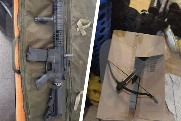 Это оружие нашли в квартире у Владимира Таушанкова