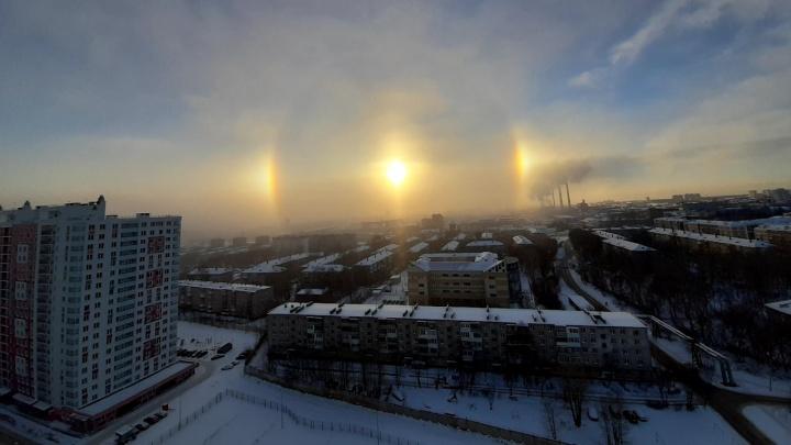 Пермяки наблюдают в небе гало. Что это за явление и правда ли, что оно к морозу?