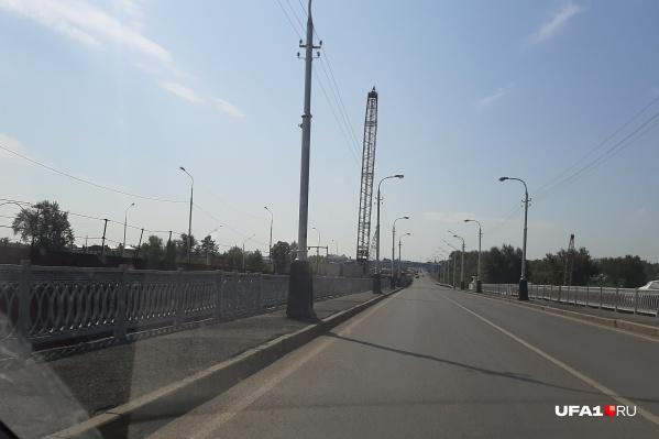 Строительство моста начали в июле 2019 года