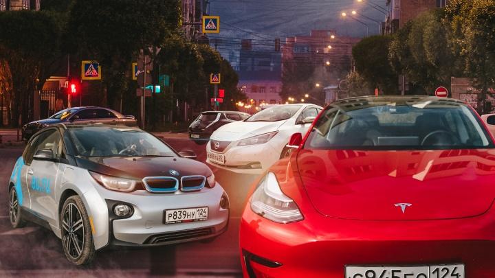 «На заправку трачу 400 рублей в месяц»: почему красноярцы пересаживаются на электромобили