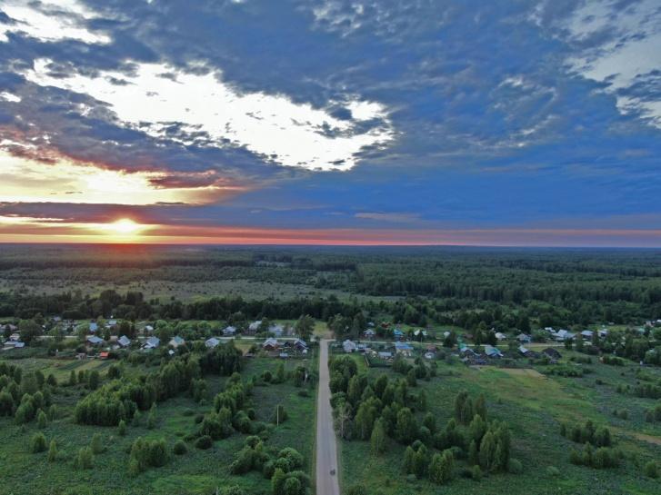 Наша деревня. Фото с дрона