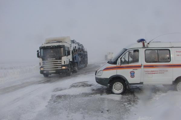 Въезд грузового транспорта в Волгоград уже запрещен
