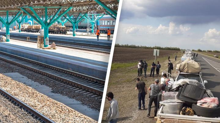 На границе Самарской и Оренбургской областей в стихийном лагере застряли 793 мигранта