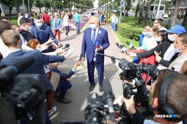 В Белово губернатор пообщался с журналистами