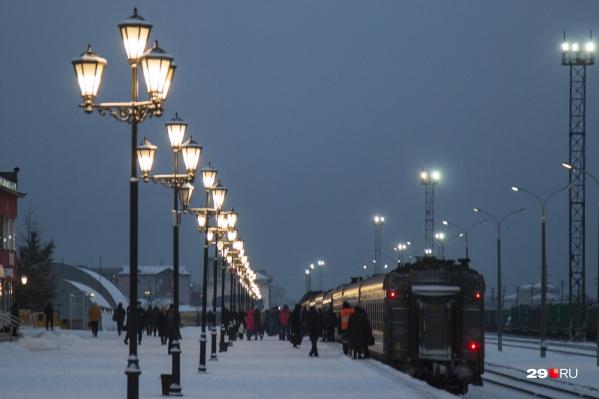 В ноябре и декабре из Архангельска будут реже курсировать поезда до Москвы