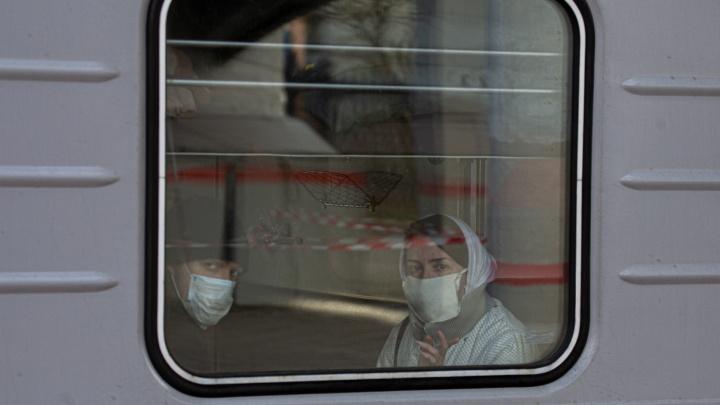 В Челябинской области задержали два поезда