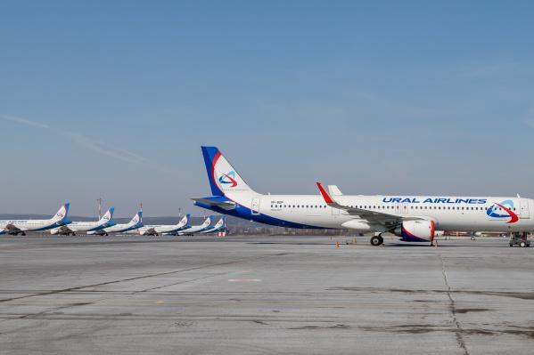 В Кольцово стоят и ждут лучших времен 16 Airbus