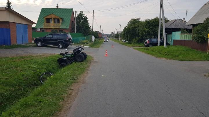 В селе под Тюменью подросток без прав на квадроцикле сбил ребенка