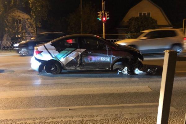 Автомобилист серьезно не пострадал