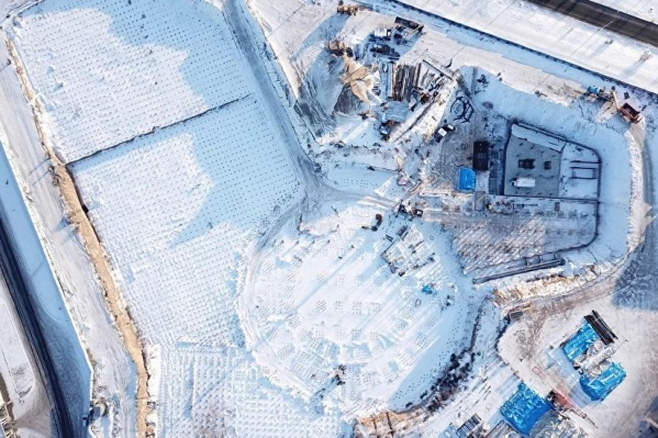 Здание будущего аквапарка напоминает лепестки