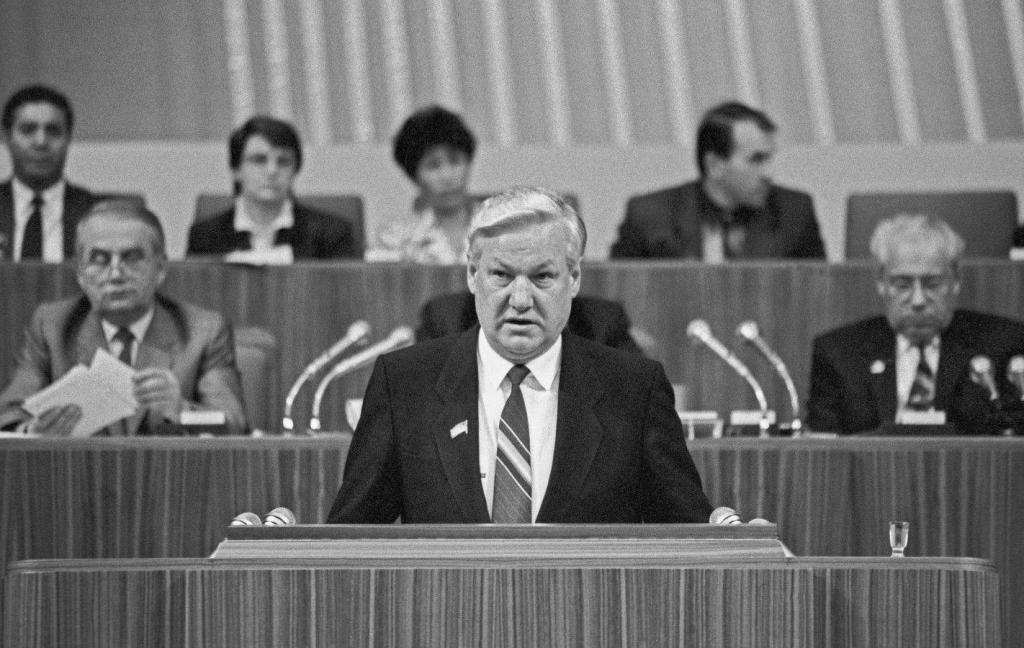 выступление Ельцина при выходе из КПСС