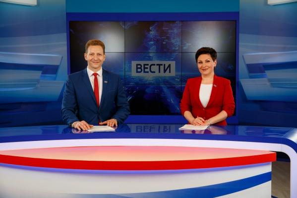Ведущие Игорь Прохватов и Марина Ромакина