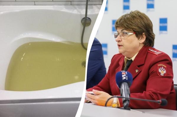 Главный санитарный врач объяснила, почему вода в кранах стала разноцветной