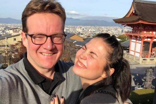 Светлана с супругом на отдыхе