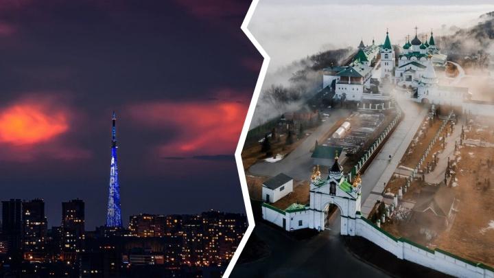 Лучшие фото этой недели: пропущенные закаты и Печёрский монастырь в «дымке»