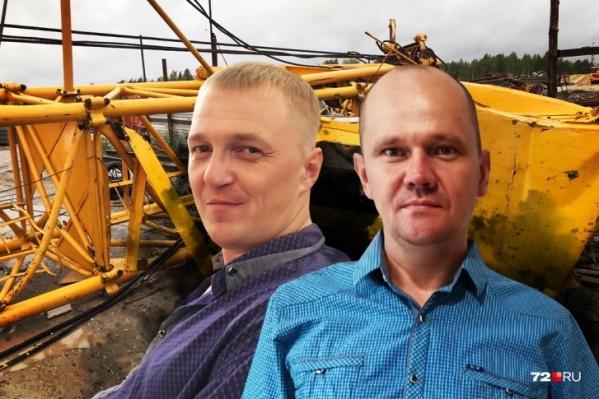 Владимир и Михаил, которые пострадали при падении башенных кранов. Они до сих пор проходят лечение