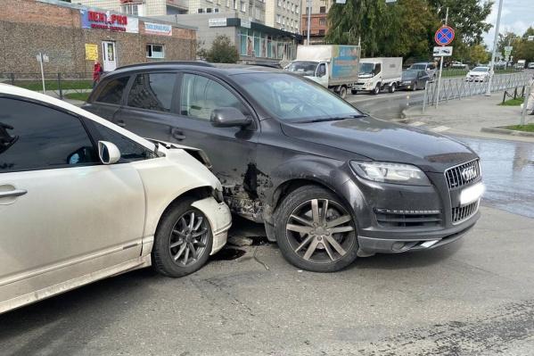 Место столкновенияна пересечении улиц Дуси Ковальчук и Дачной