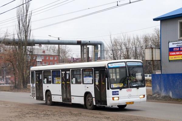 """На маршруте <nobr class=""""_"""">№ 1</nobr> работают всего две машины"""