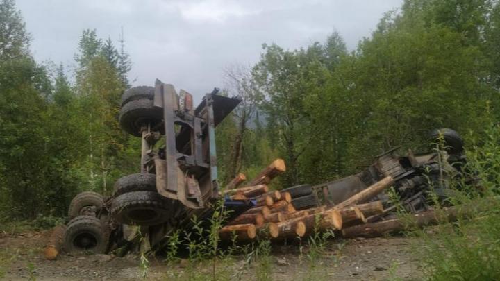 Семье погибшего в ДТП водителя лесовоза пришлось самой доставать его из машины и везти в морг
