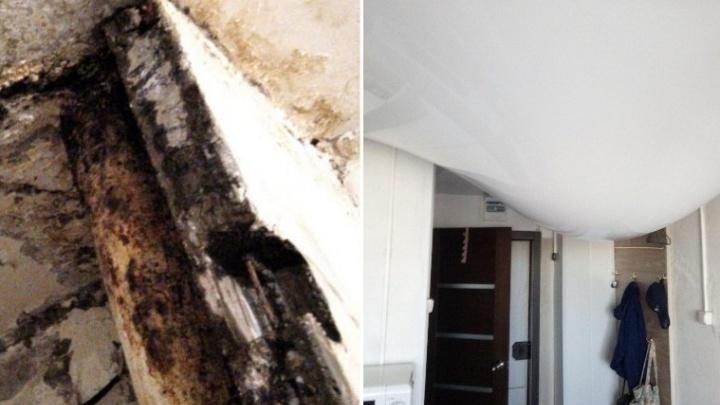 Топит несколько этажей: в Тюмени многоэтажка на полгода осталась без крыши из-за пандемии