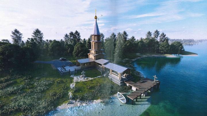 РПЦ хочет построить на Мочальном острове «Нижегородскую Голгофу» — смотрим проект