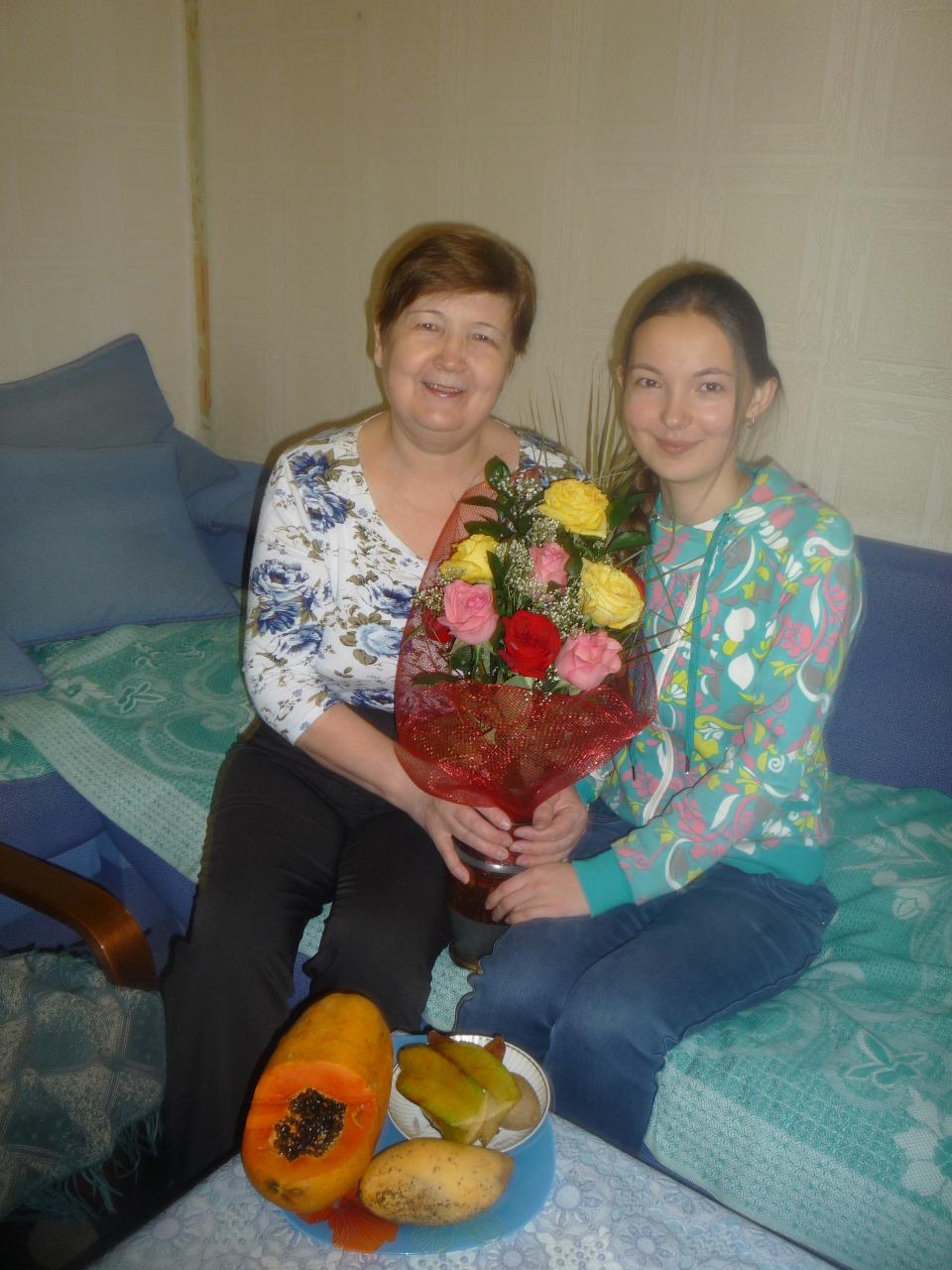 Надежда Праведникова с дочерью Еленой