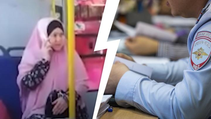 Женщине в хиджабе, закатившей истерику в автобусе из-за маски, грозит три статьи