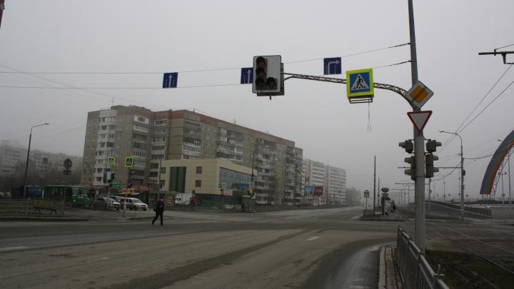 На загруженном перекрестке возле «Радуга-парка» отменили левый поворот