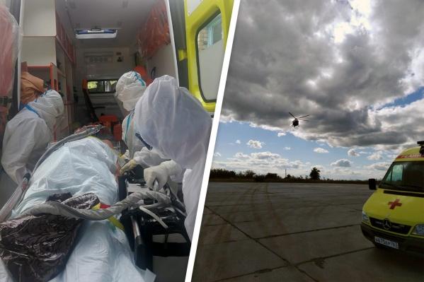 Эвакуация больного на вертолете заняла всего 1,5 часа