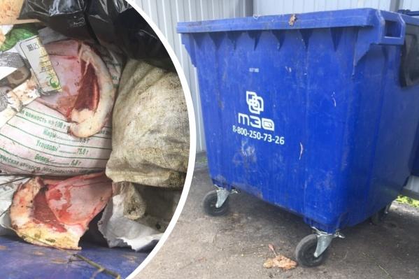 В такие контейнеры можно выбрасывать только бытовой мусор, но не биологические отходы
