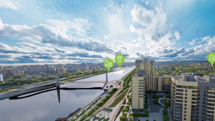 Новый пешеходный мост через Туру построят около «Европейского берега»