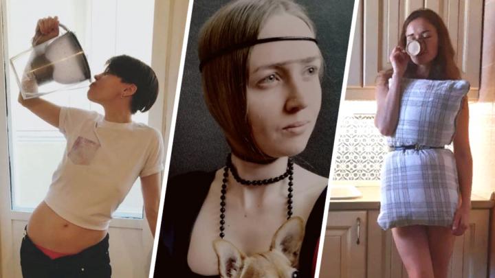 Платья-подушки и ожившие полотна: в каких флешмобах участвуют ростовчане на самоизоляции