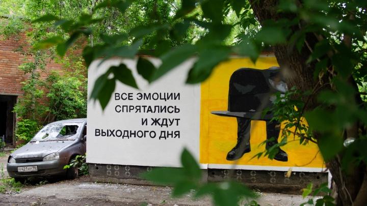 Во дворах за «Динамо» появились граффити про всех, кто работает на пятидневке
