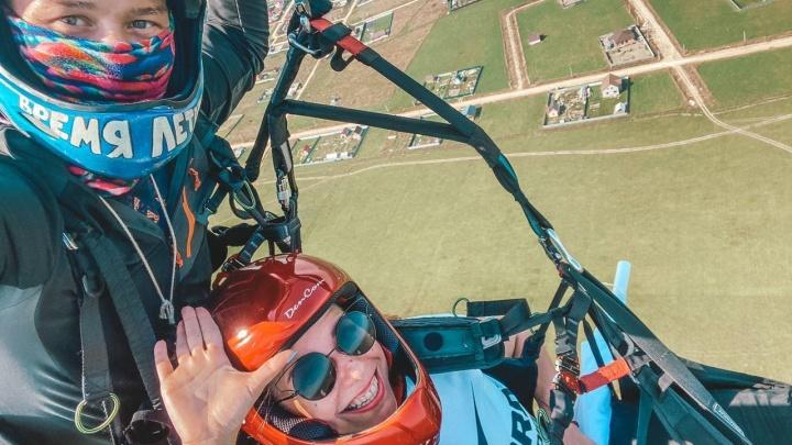 Побывать на высоте: тюменец выиграл у «Радио Рекорд» полет на параплане