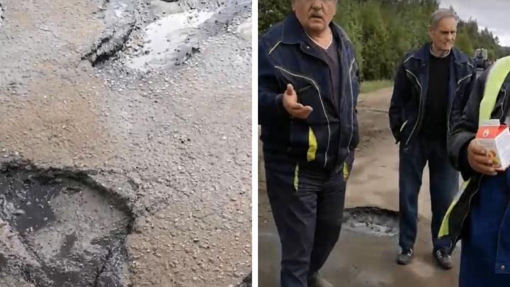 «Будет держаться!»: ярославские дорожники отстояли право укладывать асфальт в лужи. Видео