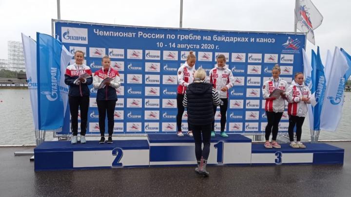 Байдарочница Наталья Подольская завоевала вторую медаль на чемпионате России