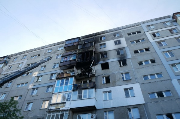 Газ взорвался в квартире на 6-м этаже