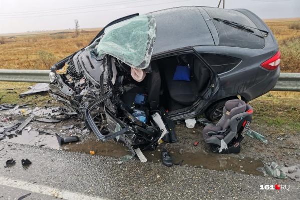 Авария произошла около 09:00 в Багаевском районе<br>