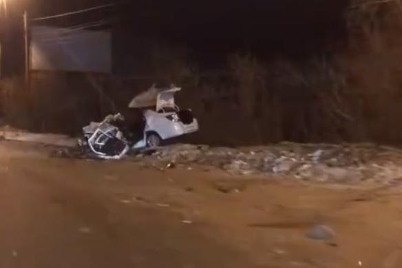 Водитель этой машины скончалась от полученных травм в больнице